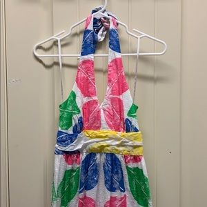 Lilly Pulitzer Halter Top summer maxi dress